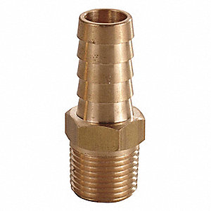 Hose Barb,3/4 In Barb,3/4 In MNPT,Brass