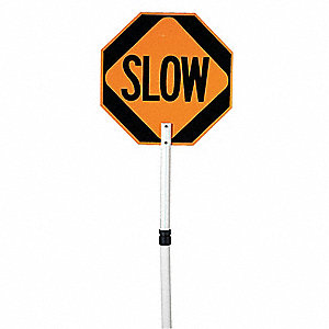 Paddle Sign,Stop/Slow,ABS Plastic