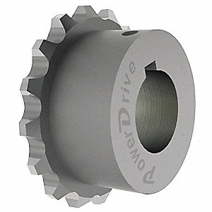 Chain Coupling Sprocket, Bore 7/8 In