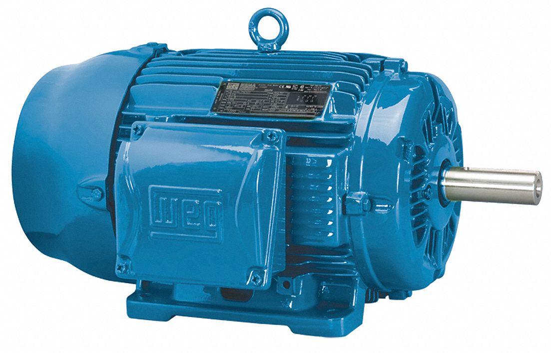 Weg 5 hp general purpose motor 3 phase 1755 nameplate rpm for Weg motors technical support