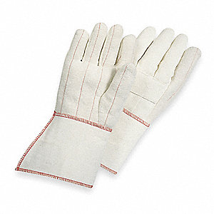 Heat Resistant Gloves, Cotton, 275°F Max. Temp., Men's L, PR 1