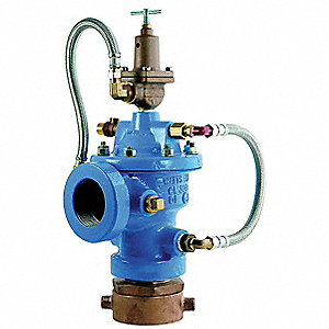 "2-1/2"" Cast Iron Fire Hydrant Relief Valve, 500 gpm @ 45 fps, Pilot Adjustment Range 20 to 175 psi"