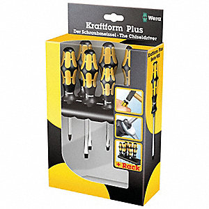 Assorted Demolition Screwdriver Set, Multicomponent, Number of Pieces: 6