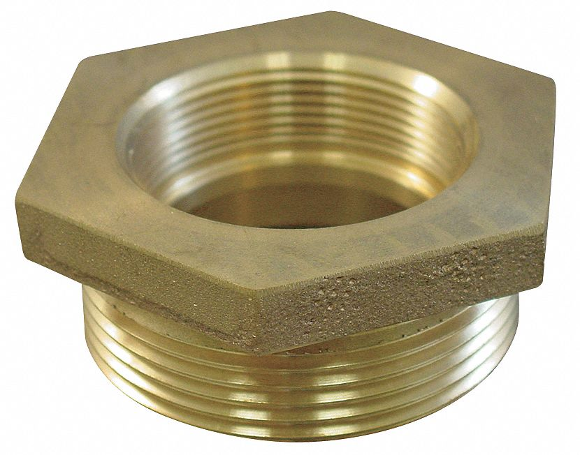 MOON AMERICAN Fire Hose Hex Bushing Adapter, Nonswivel Adapters Fittings Sub Category, NH Female x MNPT Connection   Fire Hose and Hydrant Adapters   6ANY7|356 1522061