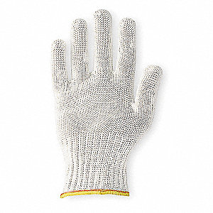 Cut Resistant Glove,White,Reversible,S