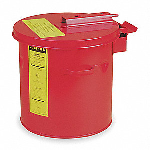"Red Cleaning/Dip Tank, Galvanized Steel, Benchtop Mounting Type, 5 gal. Capacity, 13"" Height"