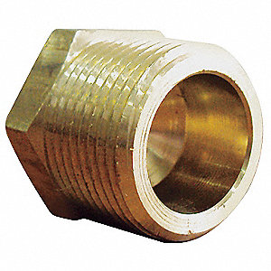 Hex Head Plug,Brass,1/4 In,PK10