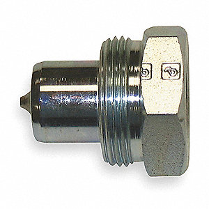 "3/8""-18 Steel Hydraulic Coupler Nipple"