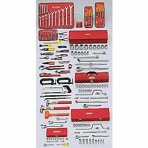 SAE Master Tool Set, Number of Pieces: 164, Primary Application: Starter