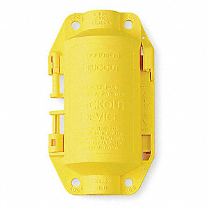 Plug Lockout,Yellow,3/8In Shackle Dia.