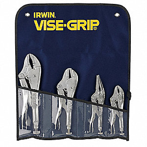 Locking Pliers Set, Handle Type: Plain Grip, Number of Pieces: 4