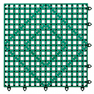 Bar Mat,Dark Green,12x12
