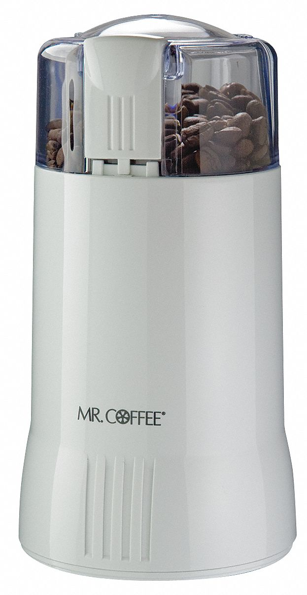 Ge Coffee Maker And Grinder : MR. COFFEE Coffee Grinder,Electric,White,12 Cups - 6CDN1IDS55-NP - Grainger
