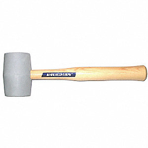 Rubber Rubber Mallet,18 oz. Head Weight,Hardwood Handle Material