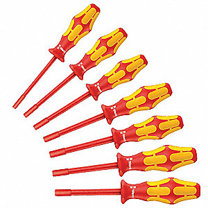 Nut Driver Set,7 Pieces,SAE,Hollow,Ins