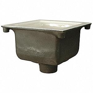Zurn Floor Sink 3 In Pipe 12 X 12 X 6 In H 6cup7 Fd2375
