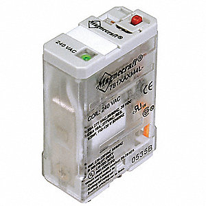 Plug In Relay, 5 Pins, Square Base Type, 20A @ 277VAC/28VDC Contact Rating, 24VDC Coil Volts