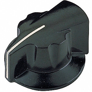 Pointer Knob,1-1/4,1/4X1/2 BB,8-32 SS