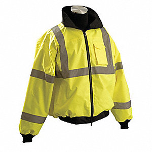 Bomber Jacket,Yes Insulated,Yellow,L