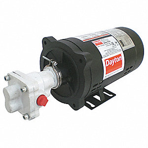Rotary Gear Pump, 40 psi, Cast Iron, 1/3 HP, 1 Phase