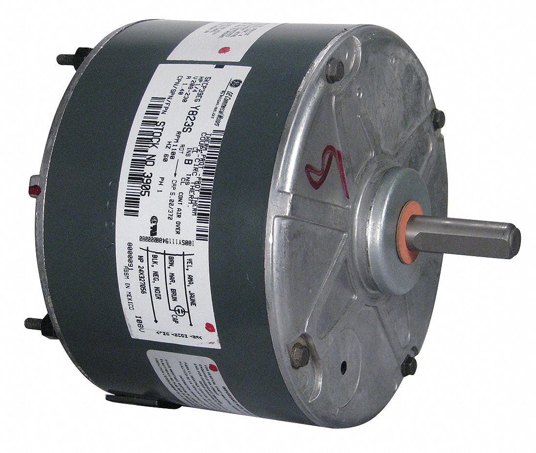 Genteq 1 4 hp condenser fan motor permanent split for Best lubricant for electric fan motor