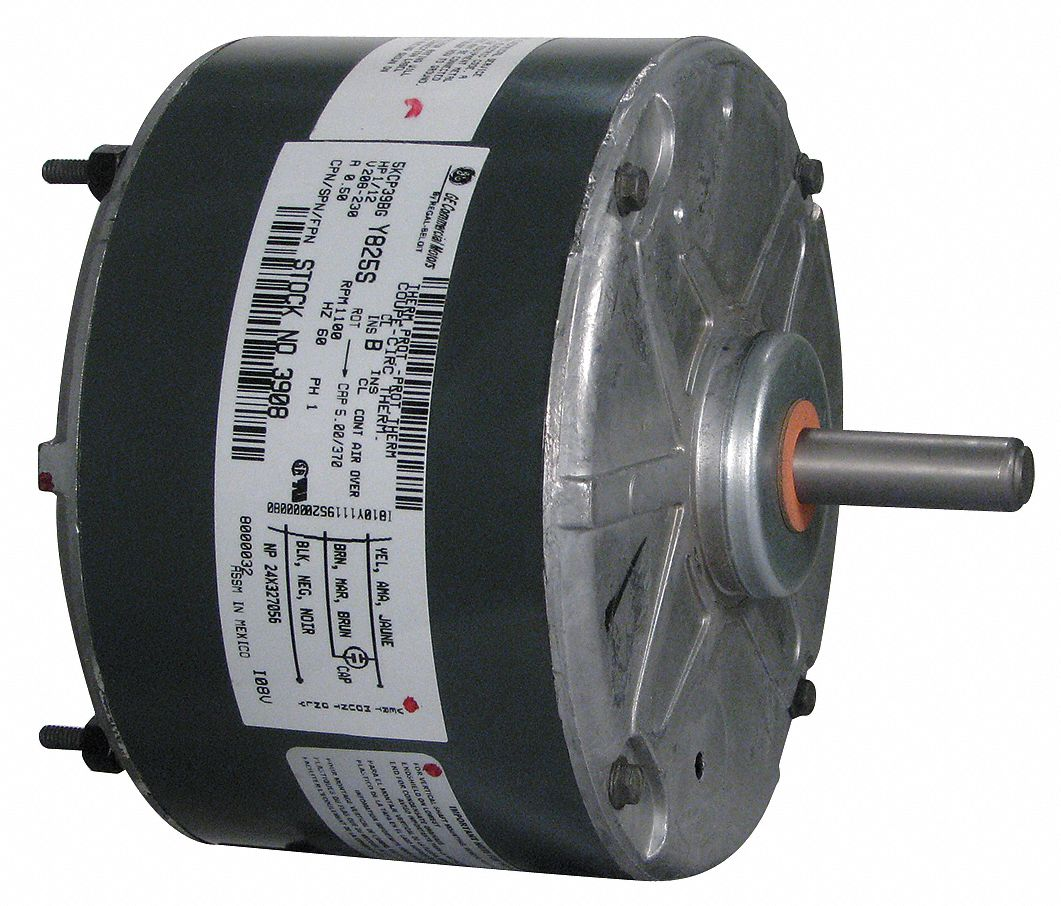Genteq condenser fan motor permanent split capacitor for Best lubricant for electric fan motor