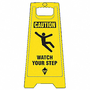 Flr Safety Sign, Caution Watch Your Step