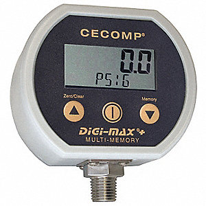 Digital Gauge,NEMA 4X,0-3000 PSI,NIST