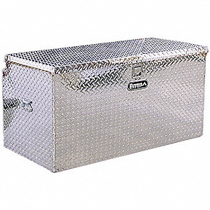 Aluminum Hitch Chest Box, Silver, Single Lid, 14.8 cu. ft.