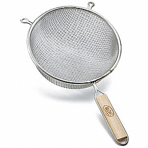 Double Mesh Strainer,Dia. 10 1/4 In