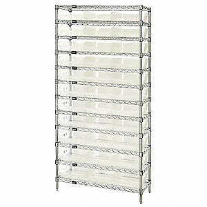 Bin Shelving, 5000 lb. Load Capacity, Total Number of Bins 33