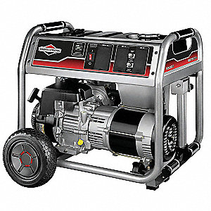 Portable Generator, 120/240VAC Voltage, 5500 Rated Watts, 6875 Surge Watts, 45.8/22.9 Amps @ 120/240