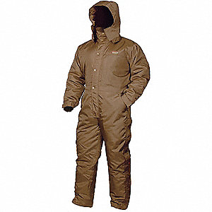 Coverall,Chest 38 to 40In.,Brown