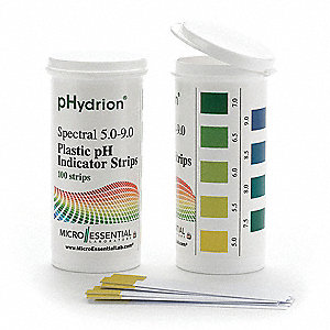 pH Strips,Hydrion Spectral,5-9,PK100