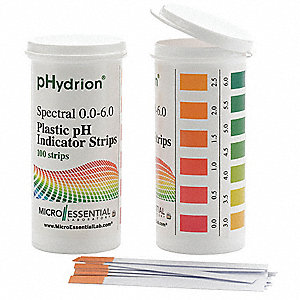 pH Strips,Hydrion Spectral,0-6,PK100