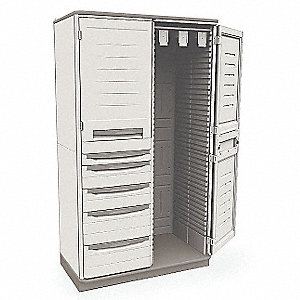 "Catheter Storage Cabinet, 72-1/2"" Overall Height, 41"" Overall Width, Number of Shelves 2 Adjustable"