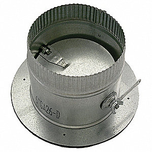 6 In Dia,26 Ga,Self Seal Collar w/Damper