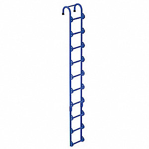 "Welded Steel Storage Tank Ladder, 10 ft. 3"" Overall Height, 14"" Overall Width, 300 lb. Load Capacity"