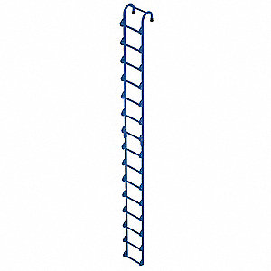 "Welded Steel Storage Tank Ladder, 15 ft. 3"" Overall Height, 14"" Overall Width, 300 lb. Load Capacity"