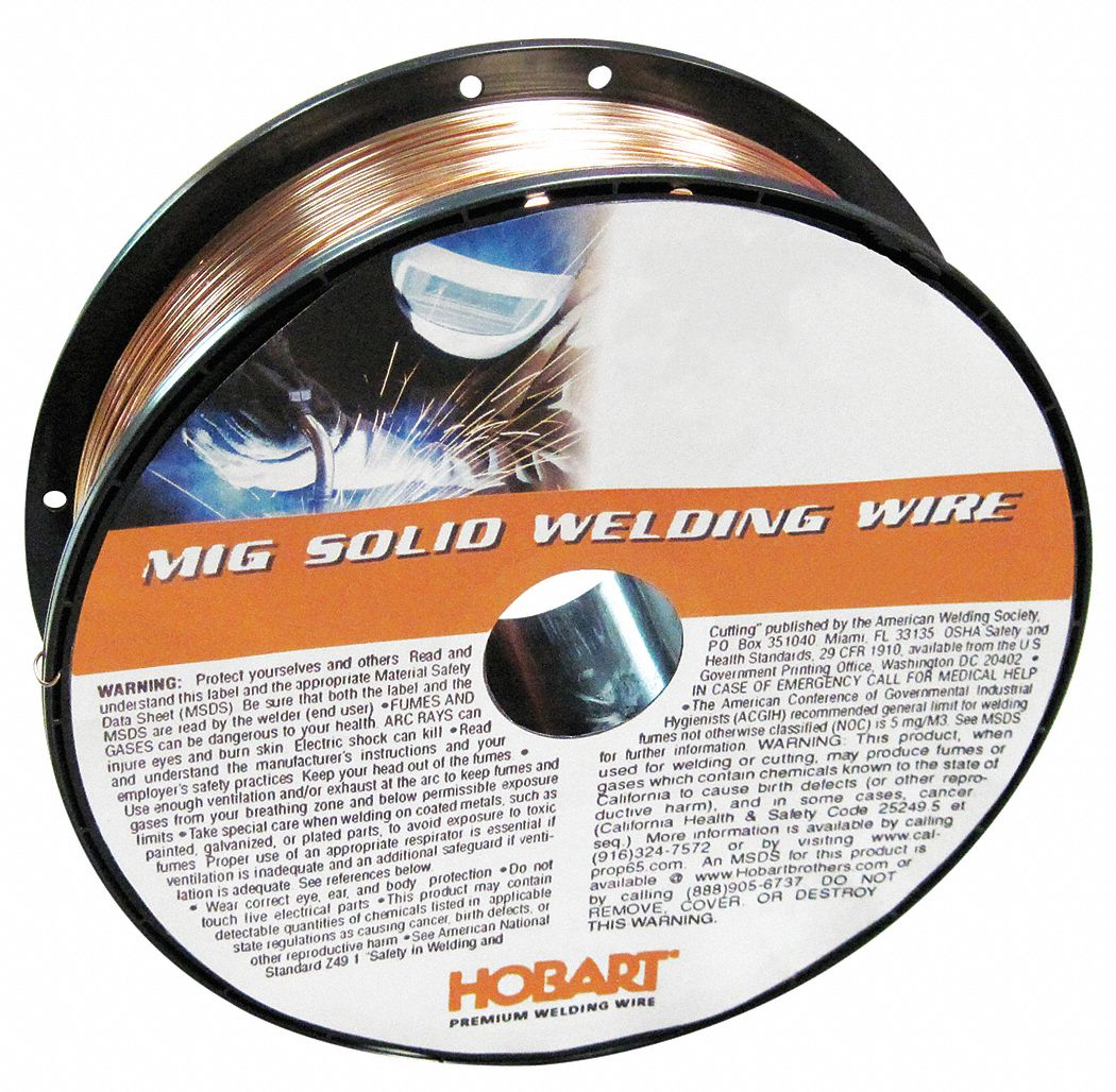 Hobart 11 lb carbon steel spool mig welding wire with 0 for Hobart welder wire feed motor