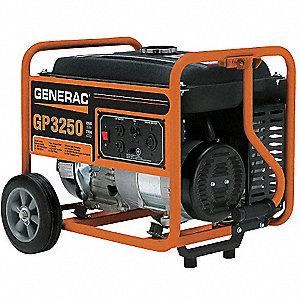 Portable Generator, 120/240VAC Voltage, 3250 Rated Watts, 3750 Surge Watts, 27/13.5 Amps @ 120/240V