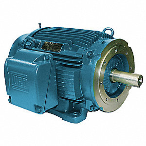 2 HP General Purpose Motor,3-Phase,3480 Nameplate RPM,Voltage 208-230/460,Frame 145TC