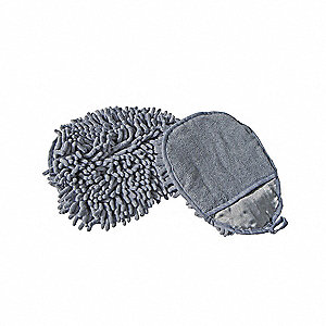 "Microfiber Dust and Wash Mitt, Length 7"", Width 5"", 1 EA"