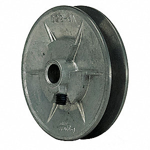 "V-Belt Pulley,5/8""VrPitch,3.5""OD,Iron"