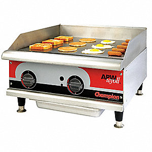 Electric Griddle,W 24 In