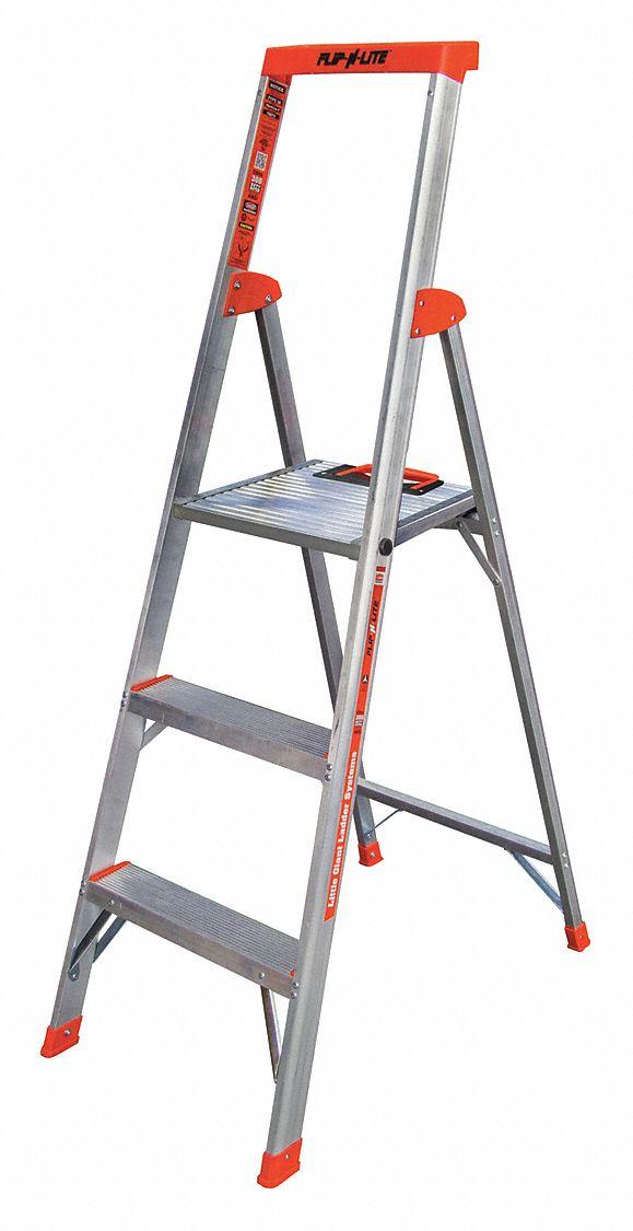 Little Giant Aluminum Platform Stepladder 5 Ft Ladder