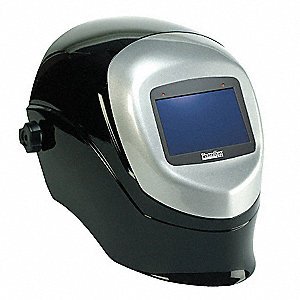 Auto Darkening Welding Helmet, Black/Silver, Talon 3, 9 to 12 Lens Shade