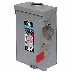 Safety Switch,240VAC,2PST,30 Amps AC