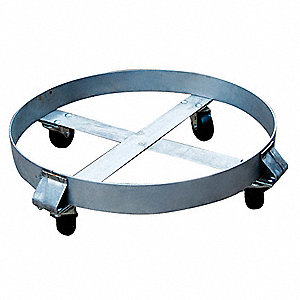 Drum Dolly,800 lb.,6-1/2 In H,55 gal.