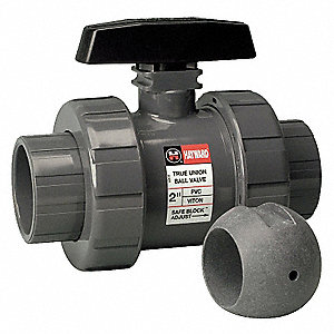 CPVC Ball Valve,Union,Socket/FNPT,1/2 In